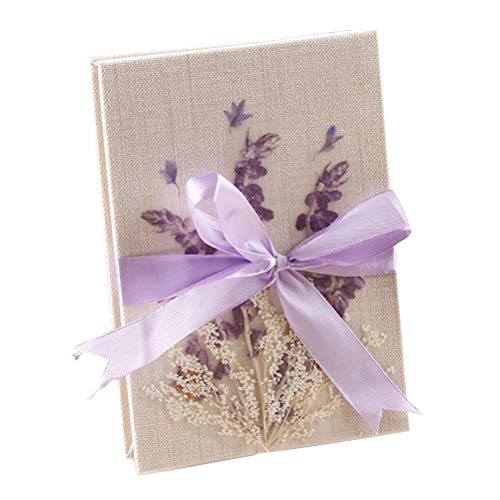 Trycooling Vintage Photo Album Scrapbooks Albums Kraft Paper Folding Album Photo for Wedding, Anniversary,Graduation Photo Collection (Forget me Flowers)