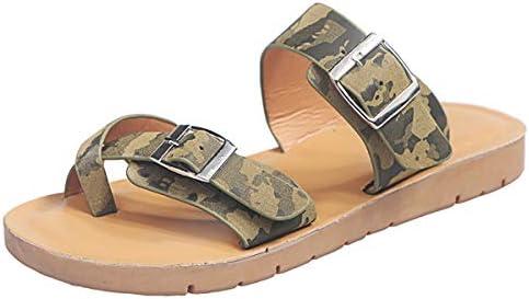 Thenxin Women Casual Slide Sandals Clip Toe Double Strap Buckle Flat Slipper Summer Beach Shoes / Thenxin Women Casual Slide Sandals Clip Toe Double Strap Buckle Flat Slipper Summer Beach Shoes