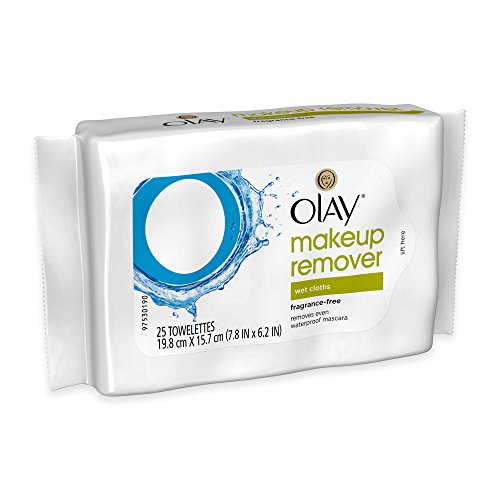 Fragrance Free Makeup (Olay® 25-Count Makeup Remover Wet Cloths)