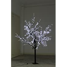 200cm LED Tree Light with 378 Lights with Maple Leaf Decoration