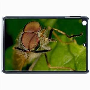 Customized Back Cover Case For iPad Mini 2 Hardshell Case, Black Back Cover Design Dragonfly Macro Personalized Unique Case For iPad Mini 2