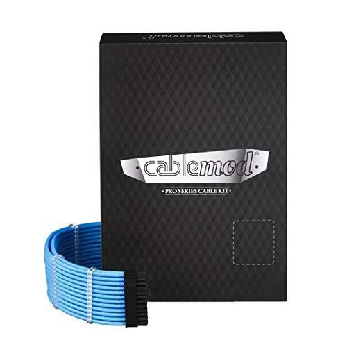 CableMod Rt-Series Pro ModMesh Cable Kit for Asus and Seasonic,Light Blue [CM-PRTS-FKIT-NKLB-R]