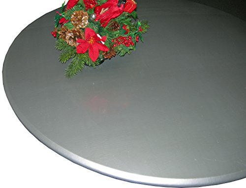 Round Lacquer (Lacquer Tops Large Round Fitted Table Cover for Special Occasions and Holidays doubles as protective table pad under linens for large round tables 42