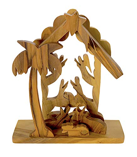 From The Earth - Olive Wood Tabletop Nativity Scene Creche - Fair Trade & Handmade