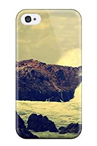 Durable Protector Case Cover With Ocean Rocks Crash Digital Hot Design For Samsung Galxy S4 I9500/I9502