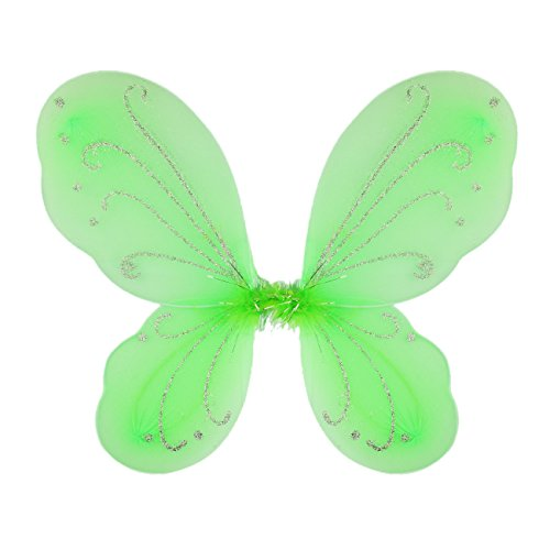Dushi Girls Butterfly Craze Fairy Wings For Fairy Costumes Party Favor Green ()