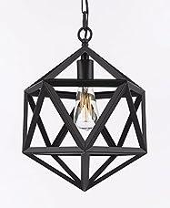 Wrought Iron Polyhedron Vintage Barn Metal Polyhedron Vintage Barn Metal Pendant Chandelier Industrial Loft Rustic Lighting H14 W12