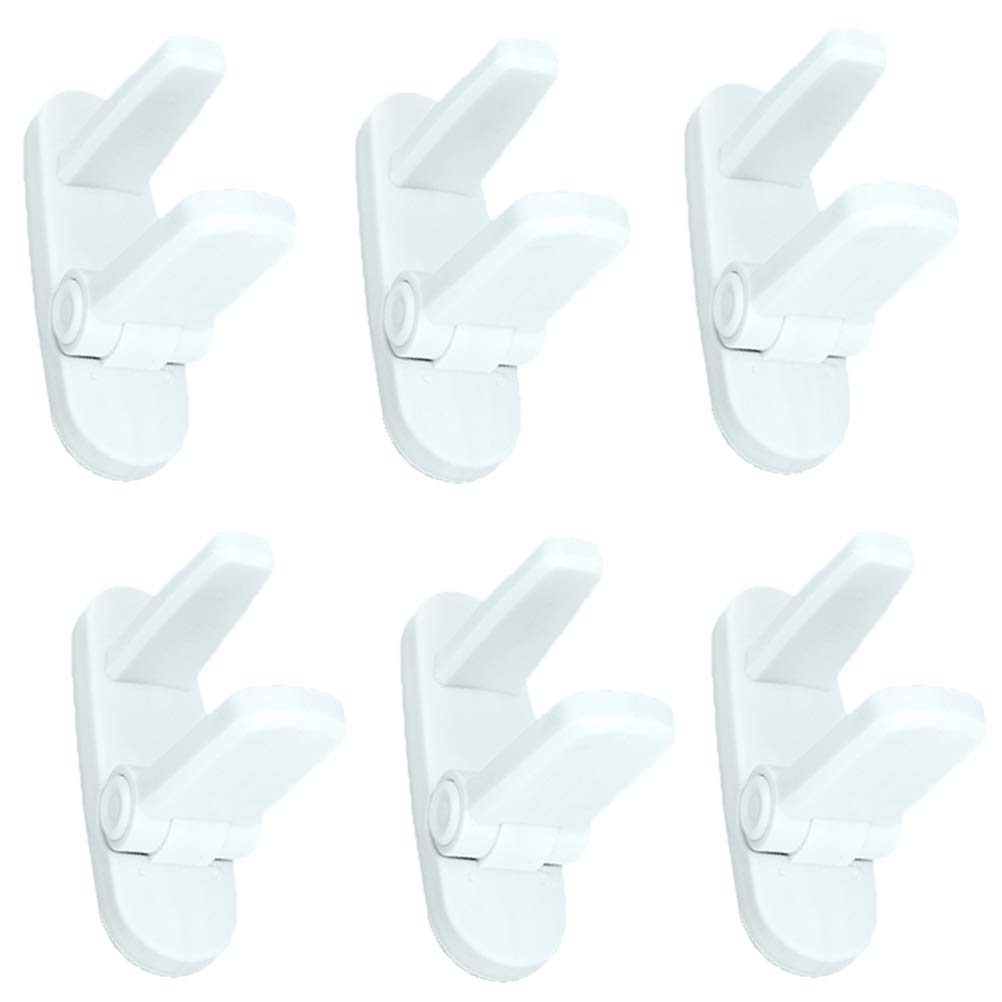 Childproof Safety Door Lever Locks Knob Covers- Child Proof Doors Opening Handles Lock 3M Adhesive for Kids Baby 6Pack