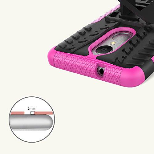 OFU®Para Lenovo K8 Plus Smartphone, Híbrido caja de la armadura para el teléfono Lenovo K8 Plus resistente a prueba de golpes contra la lucha de viaje accesorios esenciales del teléfono-Rose Red rojo