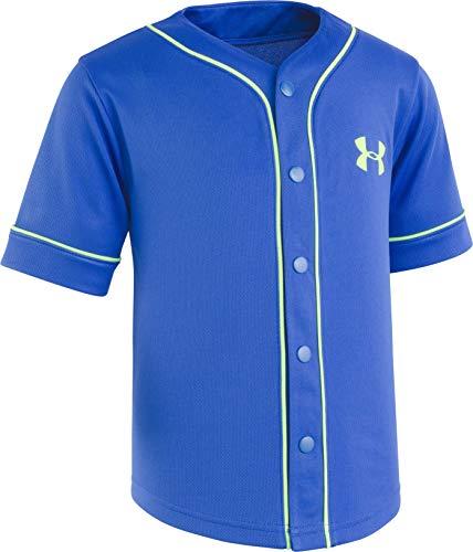 Under Armour Boys' Little Homerun Baseball Jersey Short Sleeve T-Shirt, Ultra Blue-S19, 5
