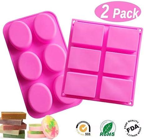 Lot de 9 moules /à cupcakes en silicone de qualit/é alimentaire violet Rose bleu moule /à muffin moule /à brownie pour bricolage artisanal rose