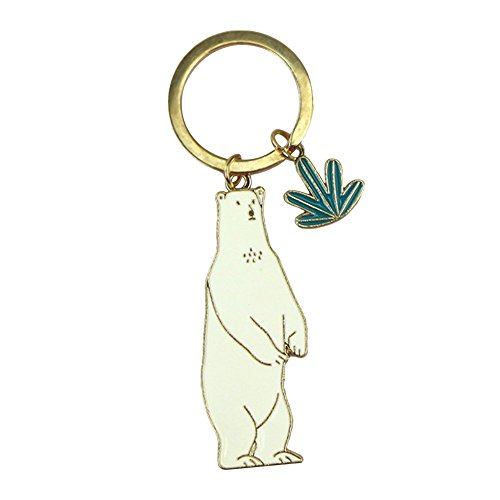 Polar Pendant Light (Couple Women Keychain Fox Polar Bear Cat Crocodile Keyring Car Bag Pendant size One size (Polar Bear))