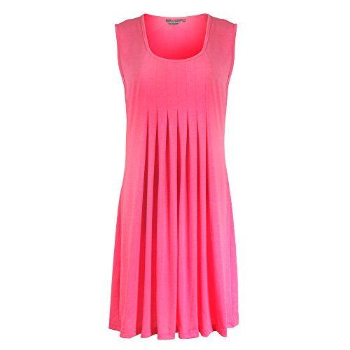 PrettyBoutik Women's Ruched Scoop Neck Casual Summer Shift Dress(SRR,L)