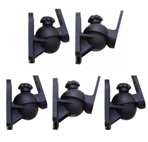 ZaZaTool - 5 Pack Universal Jewel Cube Speaker Wall Mount Stand Bracket (Audiovox Pc Desktops)