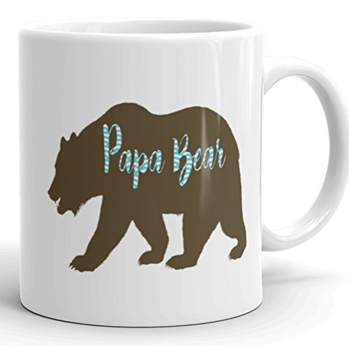 Beat Up Face Costume (Papa Bear Coffee Mug / Birthday gift / Fathers Day Gift / Dad To Be / Original Mug by For You By Rose / quote / cute / funny (11 oz))