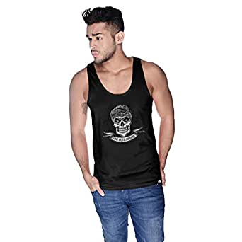 Creo Take Me To Jumeirah Bikers Tank Top For Men - Xl, Black