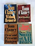Tom Clancy (4 Book Set) Without Remorse -- Red Rabbit -- Clear and Present Danger -- The Sum of All Fears By Tom Clancy