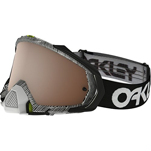 Oakley Mayhem Pro MX FP Thumbprint Men's Dirt Motocross Motorcycle Goggles Eyewear - Black White/Black Iridium / One Size Fits - Oakley Moto