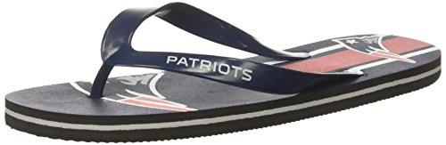 New England Patriots Unisex Gradient Big Logo Flip Flop Small (New England Patriots Shoes)