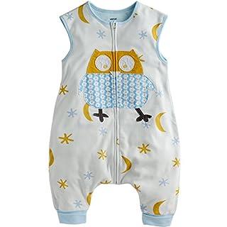 VAENAIT BABY Kids 100% Cotton Comfy Wearable Blanket Sleepers Cotton Blue Owl S
