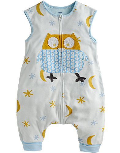 Price comparison product image Vaenait Baby Toddler Kids Wearable Blanket Sleeper Cotton Blue Owl M