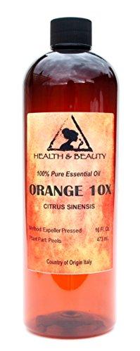 Orange 10X (10 Fold) Essential Oil Organic Aromatherapy Therapeutic Grade 100% Pure Natural 32 oz