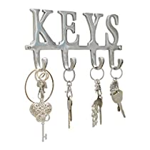 Key Holder Keys - Wall Mounted Western Key Holder | 4 Key Hooks | Decorative Cast Iron Key Rack | with Screws and Anchors - 6x8- CA-1506-04