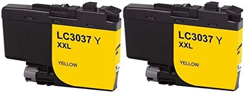 LC-3037Y/_2PK 2//PK-1500 Page Yield SuppliesMAX Compatible Replacement for Brother HL-6000//MFC-J5845//J5945//J6545//J6945DW Yellow Super High Yield Inkjet