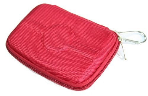 JNTworld Red 4.3 inch Hard Carrying Case for Hard Drive Disk Tomtom Via 1415M\1515M