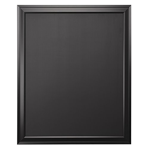 DesignOvation Bosc Wall Mounted Framed Magnetic Chalkboard, 27.5x33.5, Black