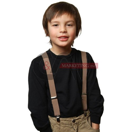Kid Suspenders Solid Color Elastic (22-26-30 inch - 15 Colors)