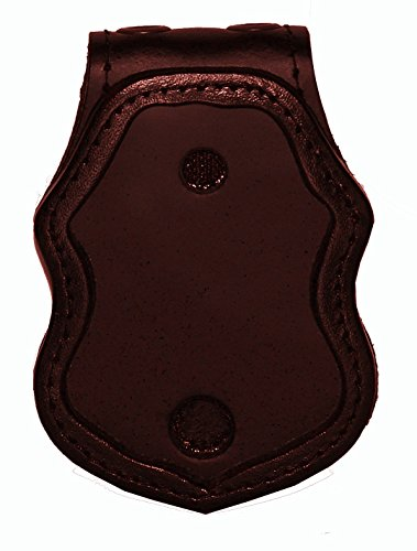 US Border Protection Belt Clip Badge Holder with Pocket and Chain (Brown)