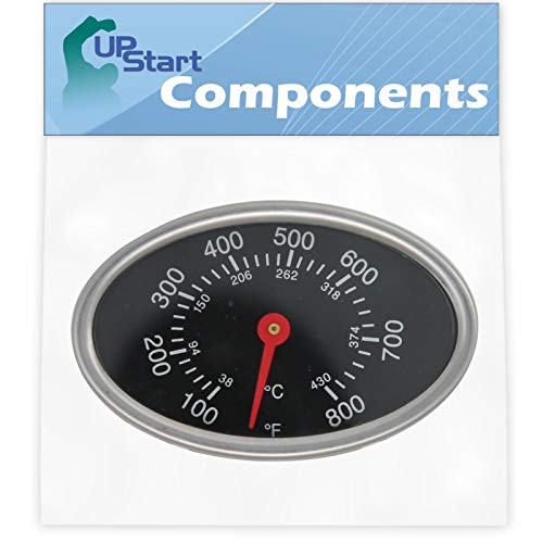 UpStart Components BBQ Grill Thermometer Heat Indicator Replacement Parts for Charmglow 720-0396 – Compatible Barbeque Temperature Gauge Thermostat