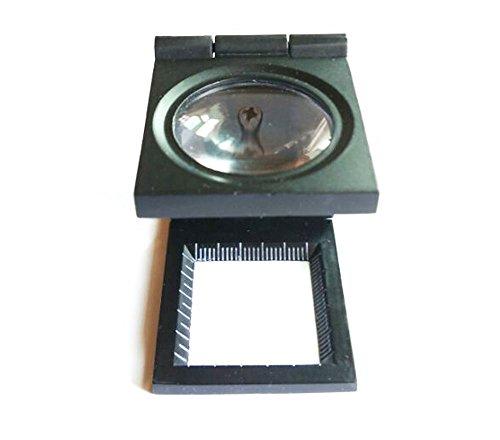 Komingo Sold Folding Staff Pocket Metal 10x Magnifying Glass Magnifiers Microscope LED Light Jewellery Identifying Loupe Magnifier (Foldingstand-10X)