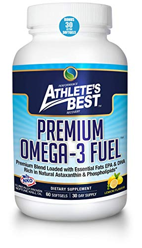 ATHLETE'S BEST Premium Omega-3 Fuel Supplement | 2400mg Krill Oil-Astaxanthin-Calamarine-Vitamin D3 | EPA+DHA Omega 3s | Highest Quality & Clinically Proven Ingredients ()