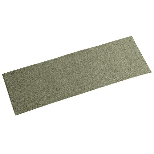 Collections Etc Berber High Traffic Skid-Resistant Utility Floor Rug, Green, 20 X ()
