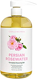 product image for Camille Beckman Complete Hand & Body Cleansing Gel, Persian Rosewater, 16 Ounce