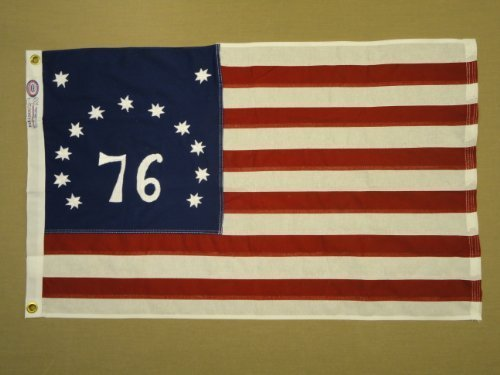 Bennington Spirit of '76 Indoor Outdoor Sewn Cotton Flag Grommets 3' X 5'