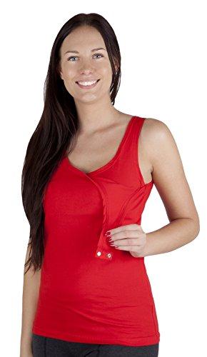 Mija - Stillmode Stillshirt / Stilltop / Still Tshirt / Unterhemd Baumwolle 3060 Rot X5bTUuZxZE