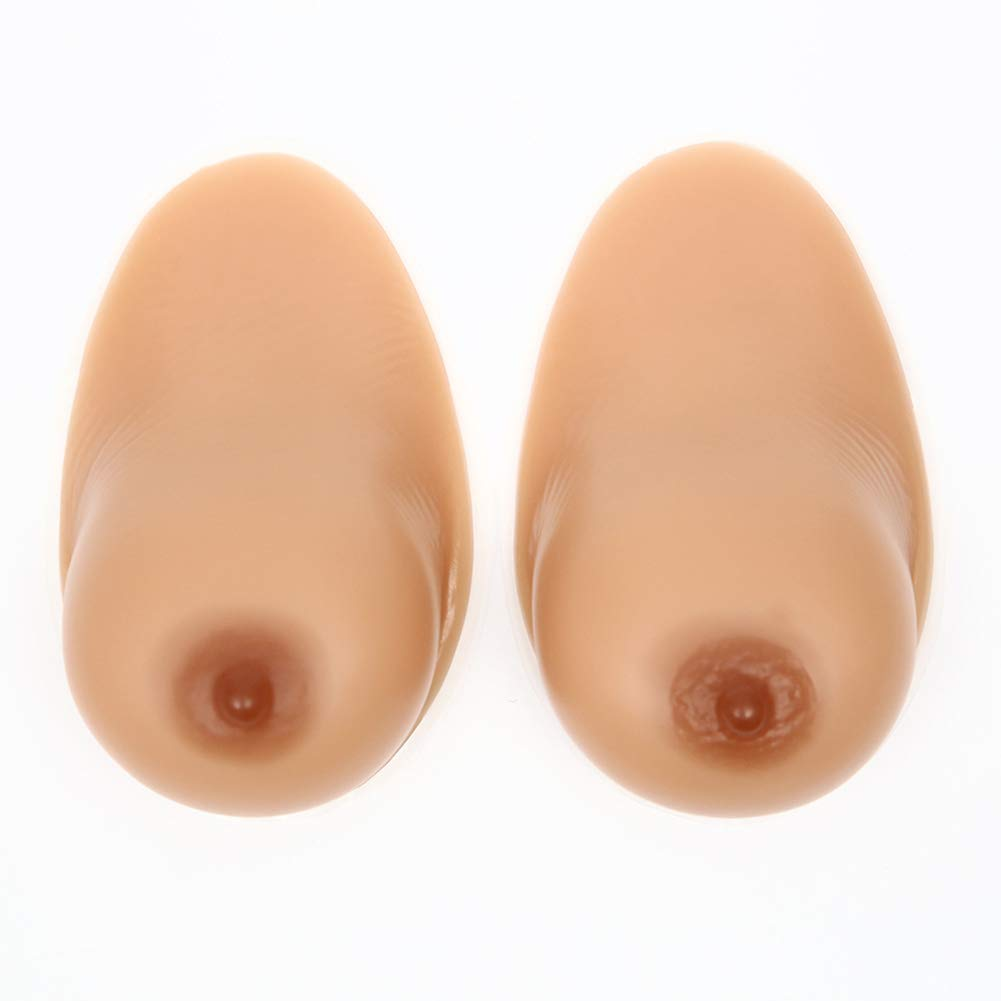 1 Pair Crossdresser Transgender Self-Adhesive Silicone Breast Forms Fake Boobs Waterdrop Shaped Bra Inserts,2,1600g/CupEE/8 * 6 * 3in by Love Life (Image #2)