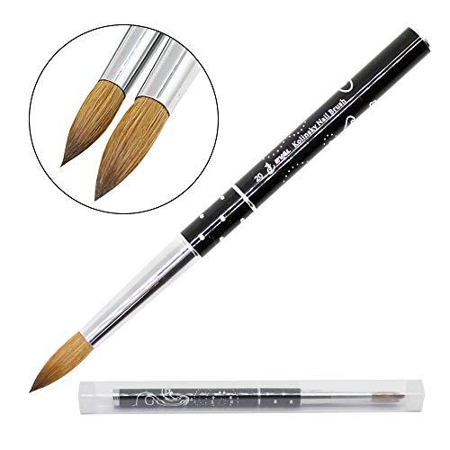 (1pc Mitini 100% Kolinsky Sable Brushes Acrylic Nail Brush Professional Nail Art Tool (8) )