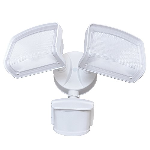 Good Earth Lighting Downfire Two Head Motion Creep Security Light - White
