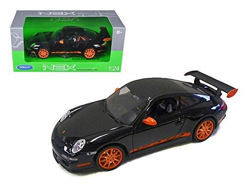 Welly 22495bk Porsche 911 997 GT3 RS Black 1-24 Diecast Car