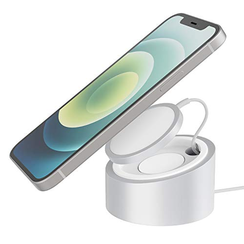Stouchi Magsafe Charger Stand Wireless Charging Heavy-Duty Premium Metal Holder Mount Base Mag Safe Desktop Dock for iPhone 12 MagSafe Magnetic Charger