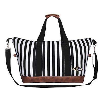 NFL Baltimore Ravens Women's Striped Weekender Bag 公式チームバッグ(ファングッズ)【並行輸入品】 B07JZTH7K8