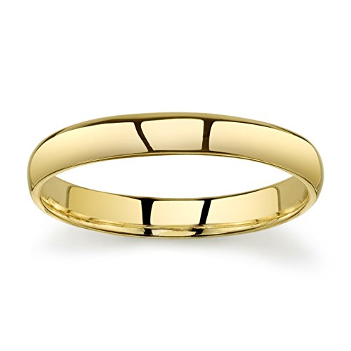 10k Yellow Gold Light Comfort Fit 3mm Wedding Band Size 9.5 by Tesori & Co (Image #2)