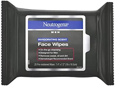 Facial Cleansing Wipes: Neutrogena Men
