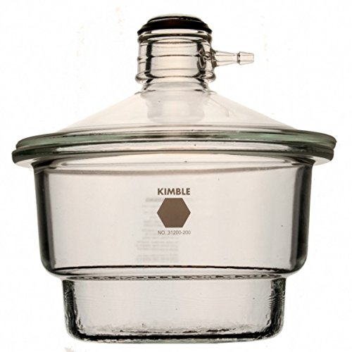 Kimble 31200-150 Vacuum Desiccator with Collar, Soda Lime Glass, 150 mm Diameter, 255 mm Height Desiccator Glass