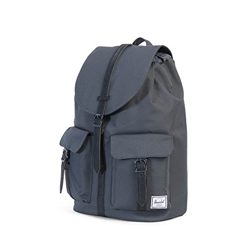 Herschel - Mochila Casual unisex Dark Shadow/Black Synthetic Leather