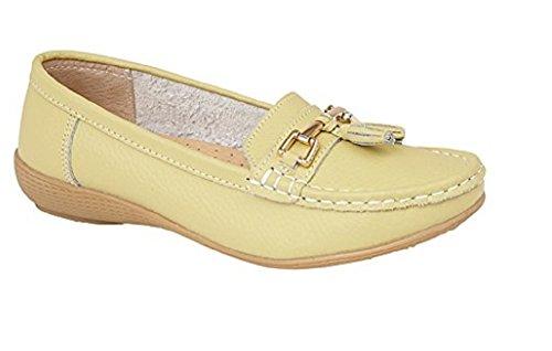 Uk Taglia In Shoes Joe Flats Pelle Barche 3 8 Tassels Con Bar Jo Per Womens Lime Driving Mocassini amp; pqBwg6Z